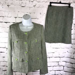 Premise skirt and jacket suit size 4 lime green